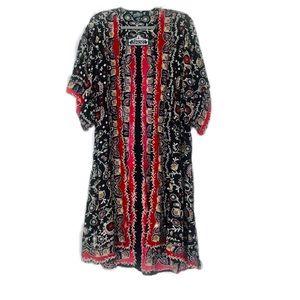 Stunning Boho Maxi Kimono / Duster 100% Ryon NWT